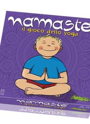 namaste, bambino che fa yoga