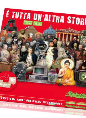 storia, culture e monumenti dal mondo con scatola rossa