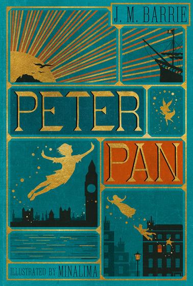 Copertina del Libro Peter Pan di Barrie illustrato da MInaLima