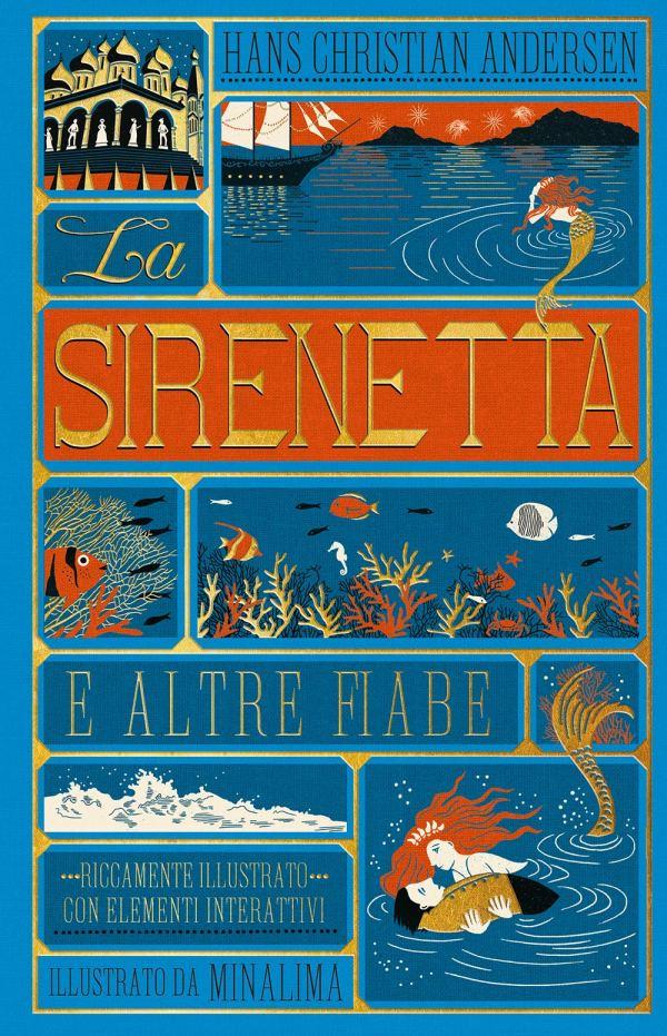 Copertina del libro La Sirenetta di Andersen illustrato da MinaLima