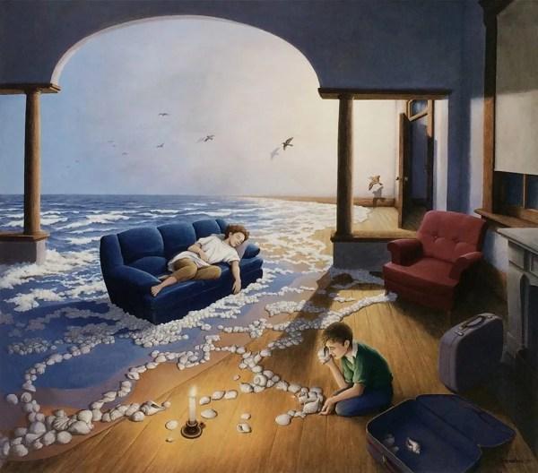 Dipinti Surreali Di Rob Gonsalves