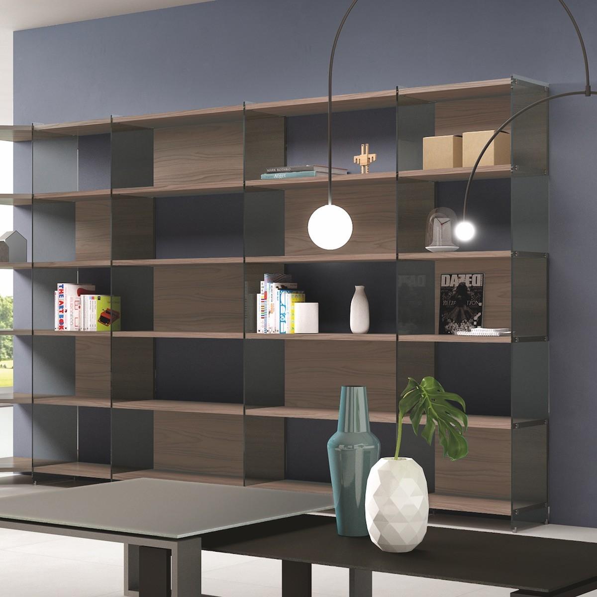 Libreria soggiorno angolare soggiorno in stile classico foto