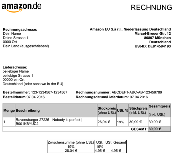tax free amazon germany