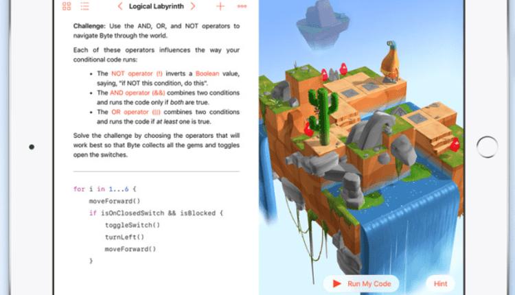 Con Swift Playgrounds el aprendizaje de programación es fácil y divertido