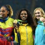 La campeona olímpica recibió este lunes la medalla de oro en la ceremonia oficial de Río 2016
