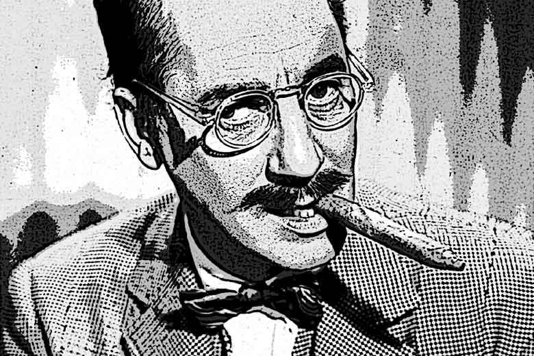 El señorito de Torrealba en una burda imitación de Groucho Marx