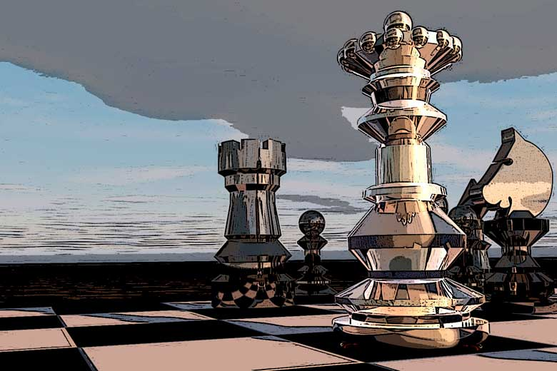 Una partida de ajedrez a tres bandas