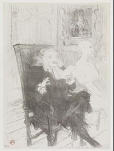 Truffier et Moreno dans Les Femmes savantes. Toulouse-Lautrec, 1893 Source : Bibliothèque de l'Institut National d'Histoire de l'Art, collections Jacques Doucet