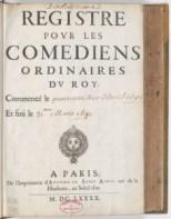 Source : Registres de la Comédie Française http://cfregisters.org/