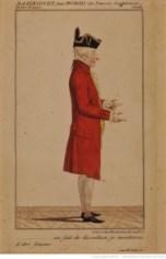 Les fausses confidences, de Marivaux : costume de Dazincourt (Dubois). 1793/ Source : BnF/ Gallica