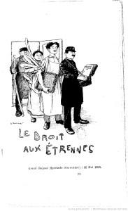 Le droit aux étrennes de Georges Courteline