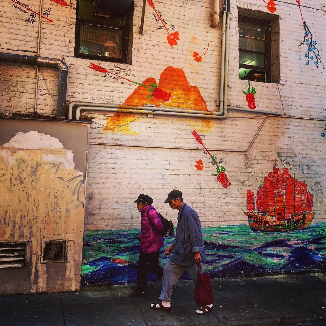 Chinatown, San Francisco, États-Unis, la misère photogénique.