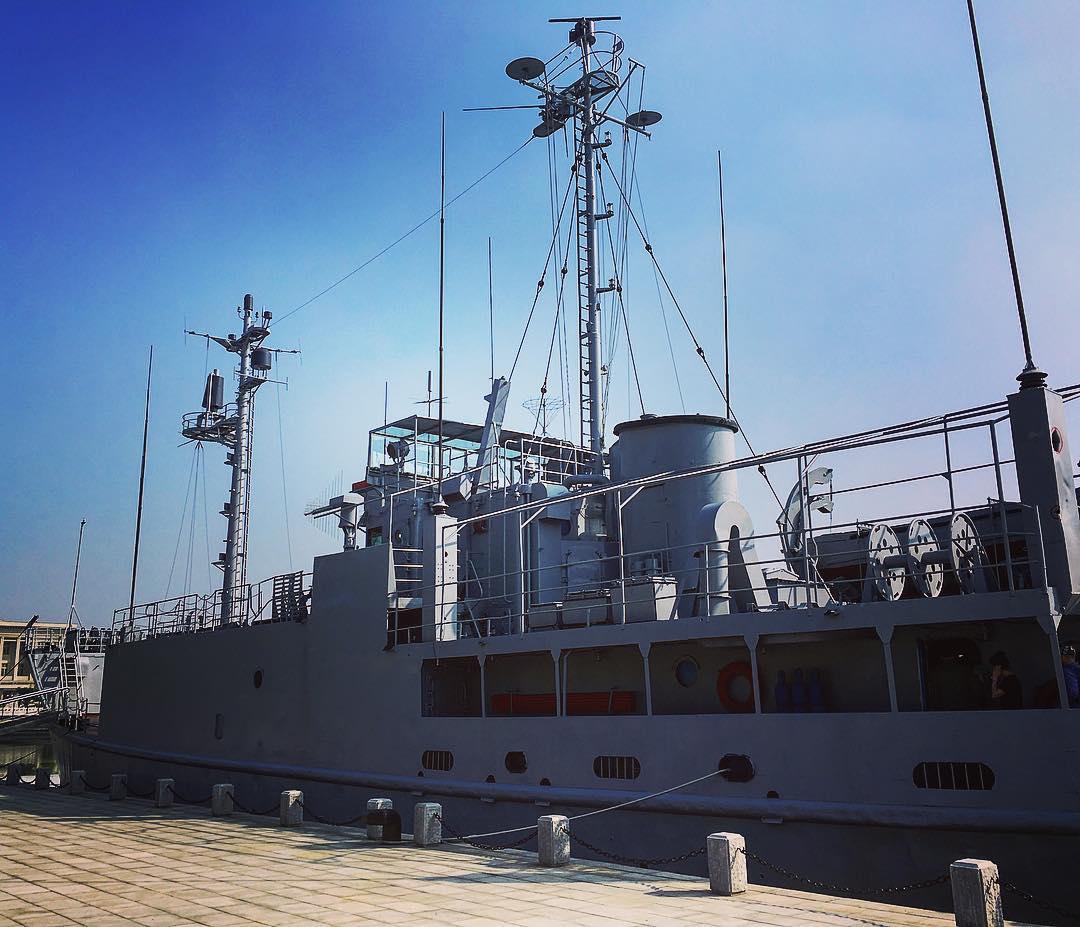Pyongyang, Corée du Nord. L'USS Pueblo, navire de la flotte américaine, capturé par la Corée du Nord en 1968.