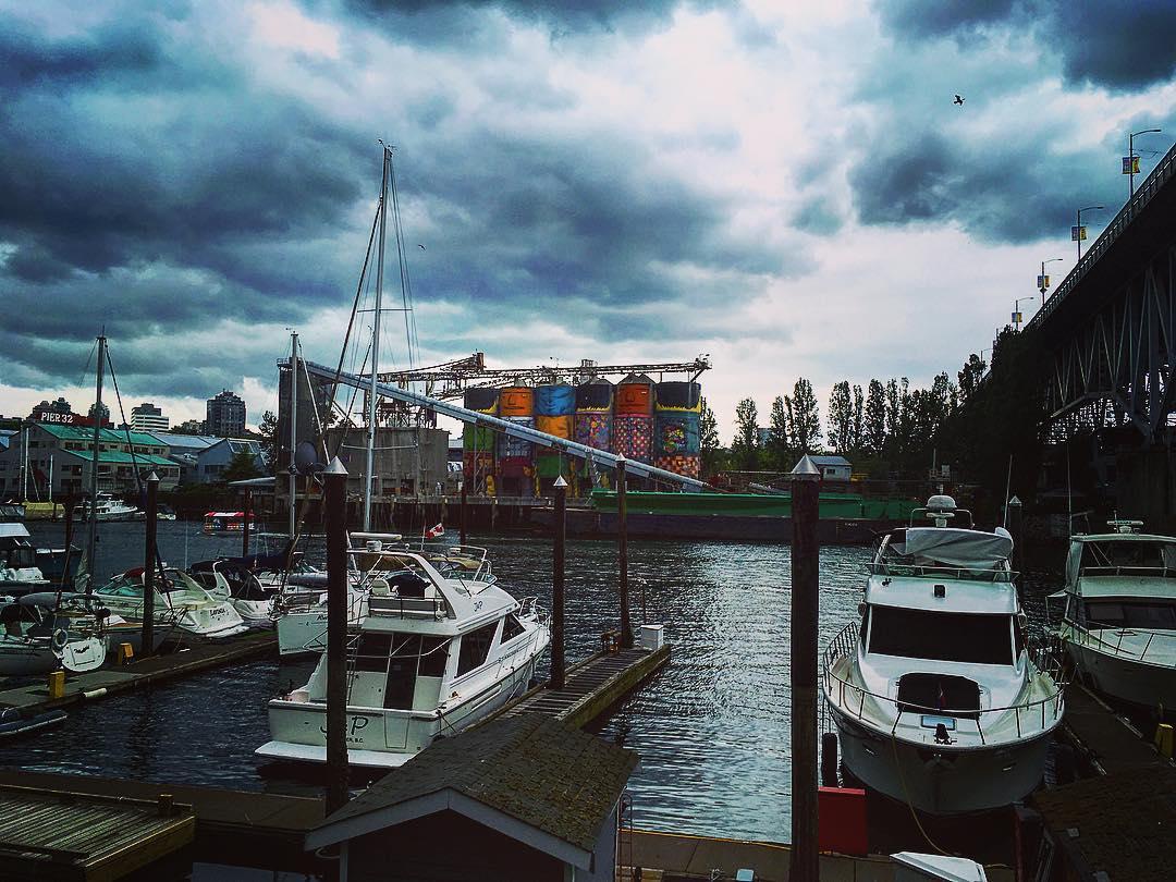 Vancouver, Colombie britannique, Canada. Dans l'un des ports.