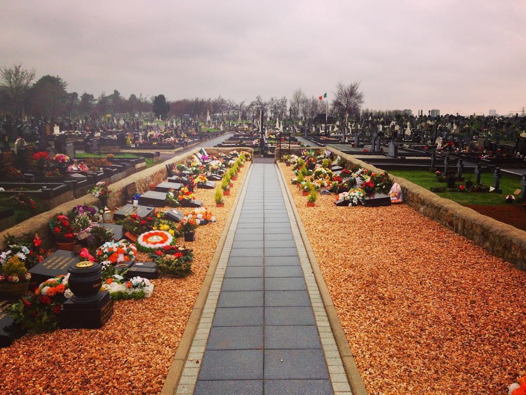 Belfast, Irlande du Nord, Royaume-Uni. Dans le cimetière de Milltown, le carré des Républicains.