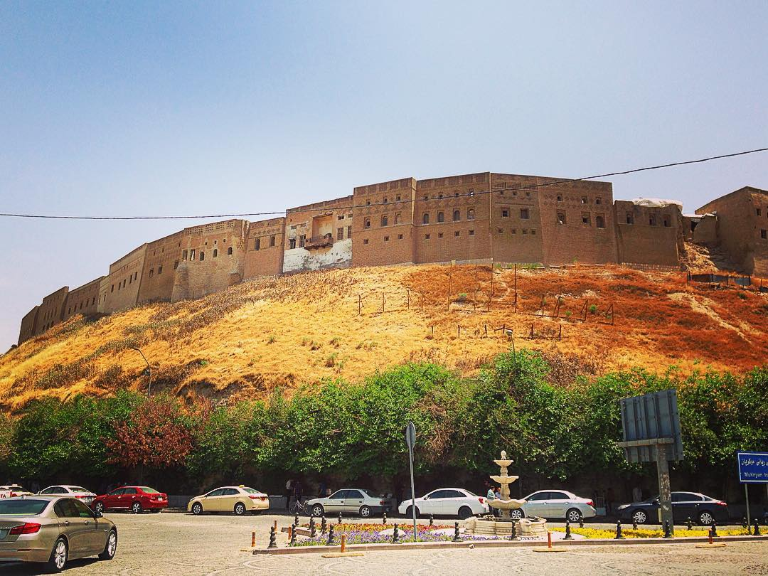 Erbil, Kurdistan irakien, Irak. Pour les Kurdes, la vieille Citadelle est plus qu'une ancienne forteresse, c'est un symbole.
