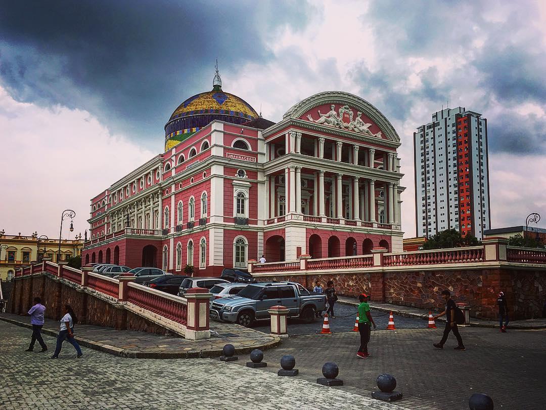 Manaus, capitale de l'État d'Amazonas, Brésil. Le Théâtre Amazonas, dans le centre historique de Manaus.