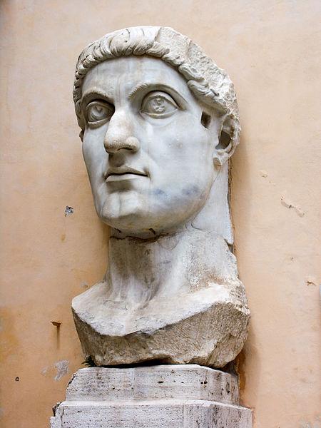 Colossus of Constantine, head, ca. 315, Musei Capitolini, Rome. A.D.,