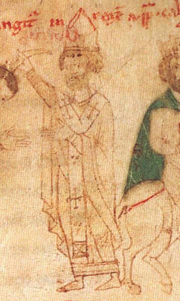 "Pope Calixtus II, ""Liber ad honorem Augusti"" of Petrus of Ebulo, 1196."