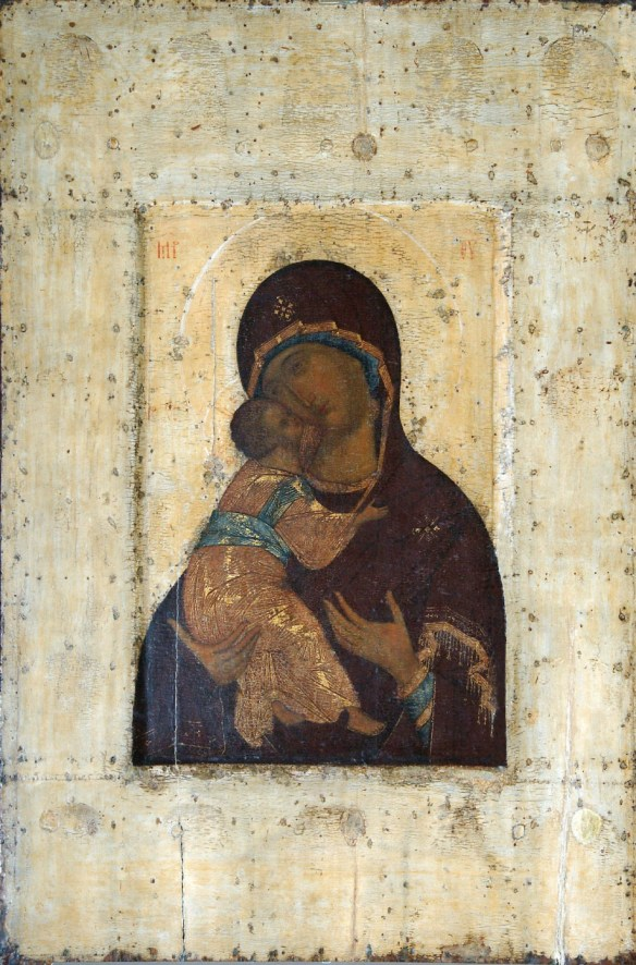 Mother of GOD, A. Rublev (?), c. 1400, Vladimir-Suzdal Museum, Russia