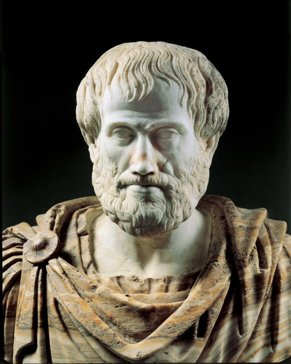 Bust of Aristotle. Roman copy after a Greek bronze original by Lysippos from 330 BC. Museo nazionale romano di palazzo Altemps