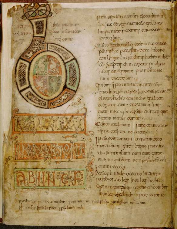 Bede, Historia ecclesiastica gentis Anglorum, first half 9th century, British Library, Cotton MS Tiberius C II.
