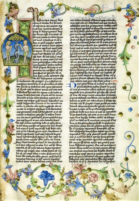 A leaf from the 1466 manuscript of the Antiquitates Iudaice, National Library of Poland.