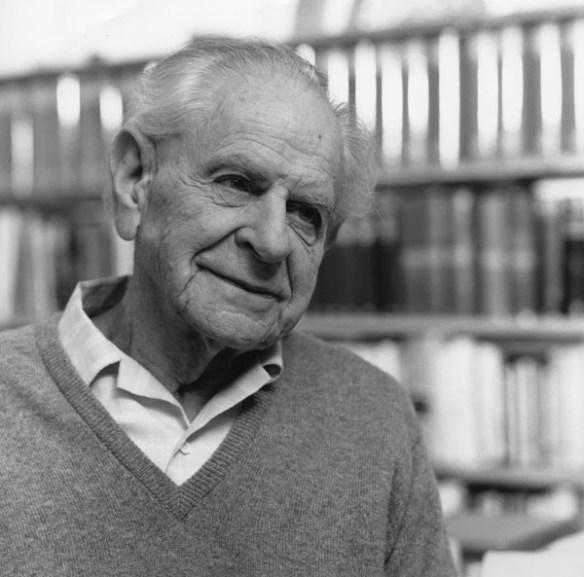 Karl Popper, 1990.