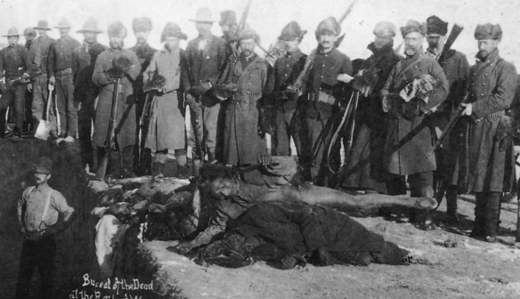 Burial of the dead at the battle of Wounded Knee, S.D. (detail), c1891 Jan. 17., Library of Congress, U.S.A.