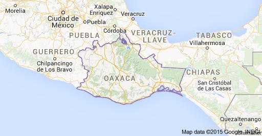 cartina oaxaca