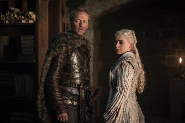 Ser Jorah Mormont e   Jon Snow e Daenerys Targaryen
