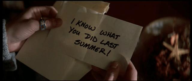 Il bigliettino di So cosa hai fatto (1997)