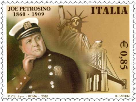 Il francobollo commemorativo per i 150 anni dalla nascita di Joe Petrosino
