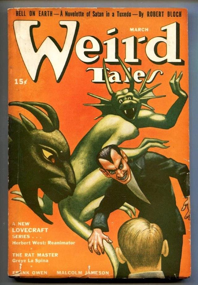 Una copertina di Weird Tales dedicata a Lovecraft