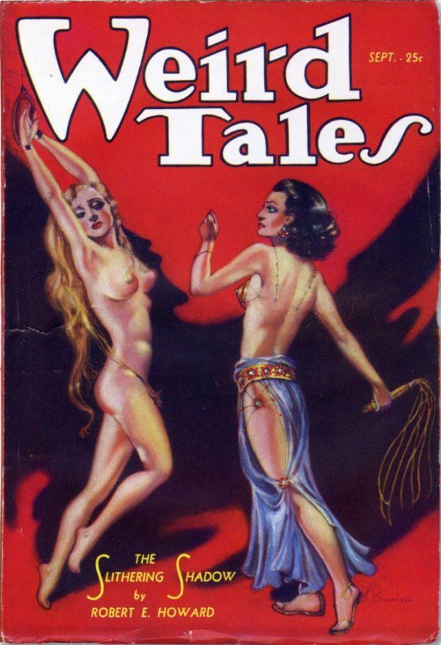 Un'audace copertina di nudo di Margaret Brundage per Weird Tales
