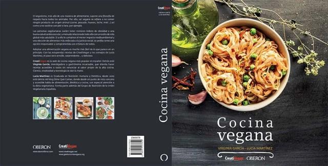 Portada del libro Cocina Vegana, por Virginia García y Lucía Martínez