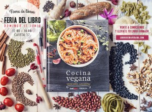 Firma del libro «Cocina Vegana» en la Feria del Libro de Madrid