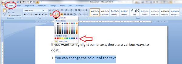 How to highlight text in a Word document LibroEditing