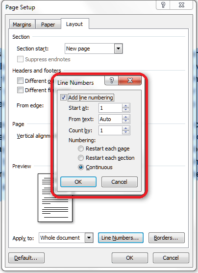 Add Line Numbers In Word : numbers, Numbers, Document, LibroEditing, Proofreading,, Editing,, Transcription,, Localisation