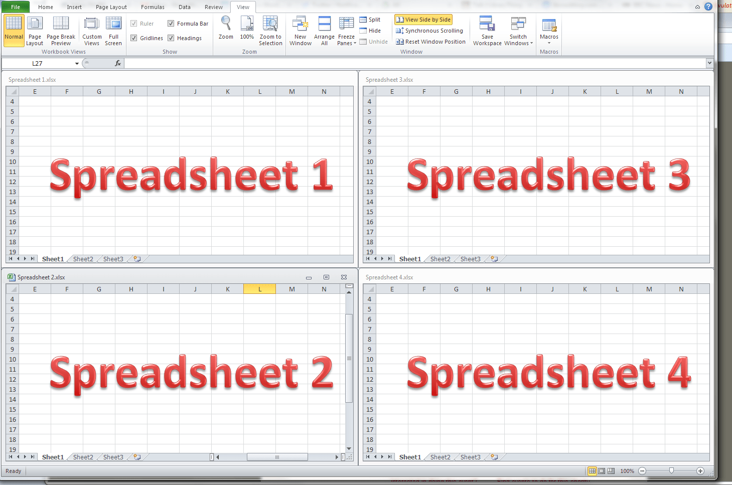 How do I view two Excel spreadsheets at a time? | LibroEditing ...