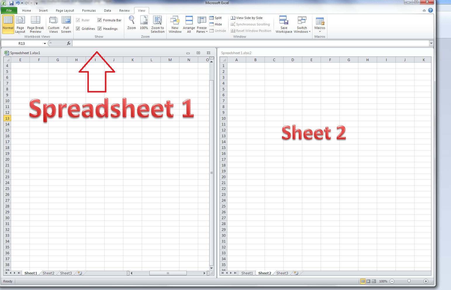 How Do I View Two Sheets Of An Excel Workbook At The Same