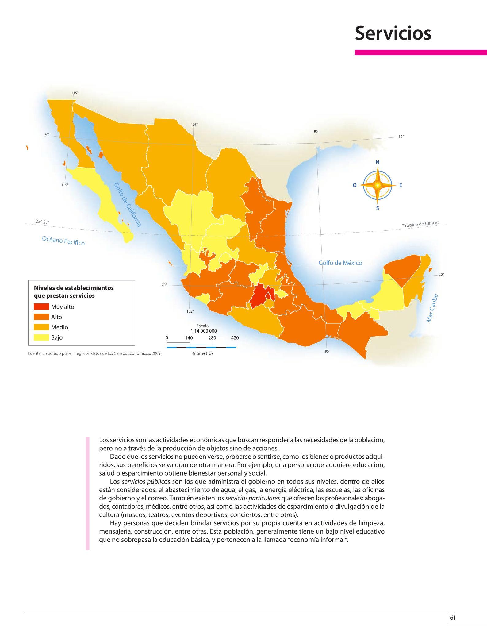 Mision proporcionar una educación que favorezca el desarrollo integral del alumno mediantes la adquisición de conocimientos, el desarrollo de habilidades. Atlas De Mexico Cuarto Grado 2016 2017 Online Pagina 61 De 128 Libros De Texto Online