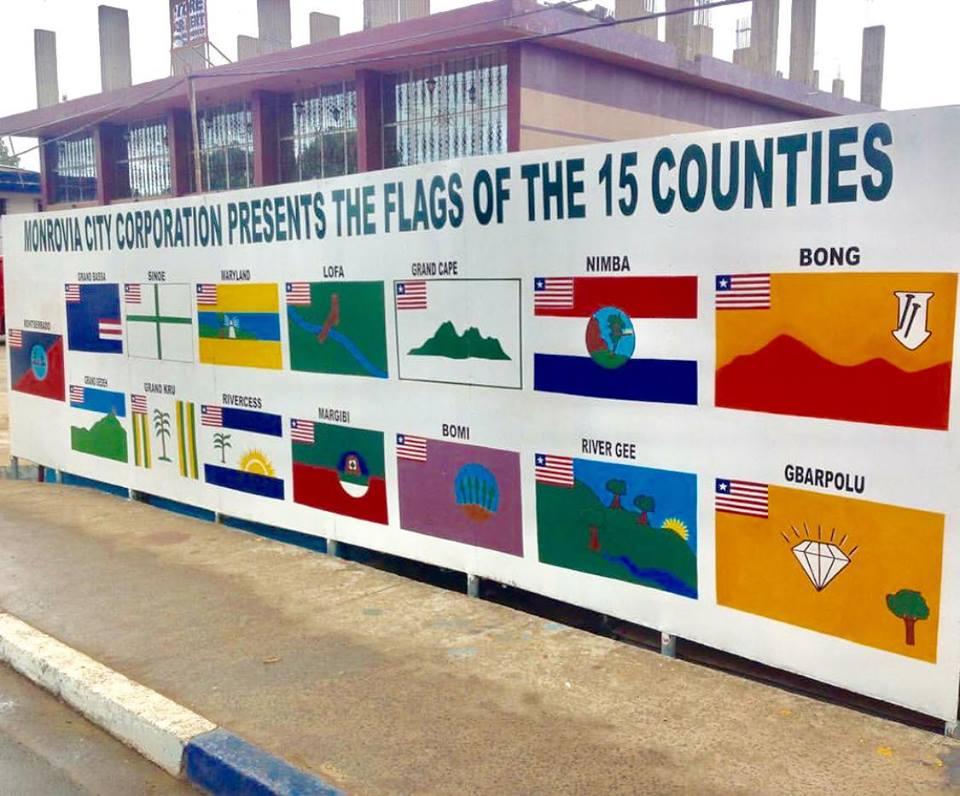 fifteen counties of liberia