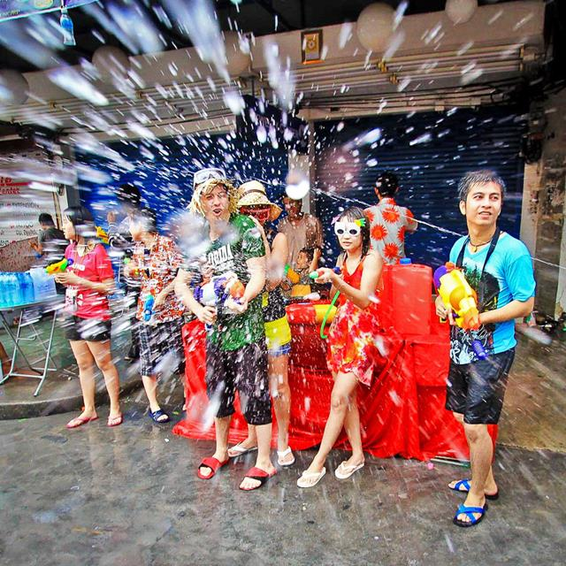 If you enliven the Songkran Festival in Thailand, you