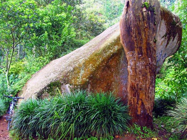 Batu besar di Situs Batu Kuda inilah yang dipercaya sebagai tempat kuda Semprani terjebak.
