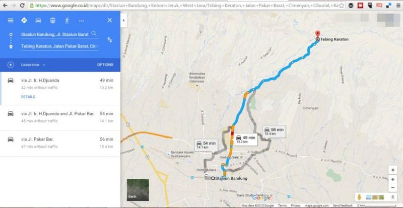 Cara menuju Tebing Keraton Bandung dari Stasiun Bandung