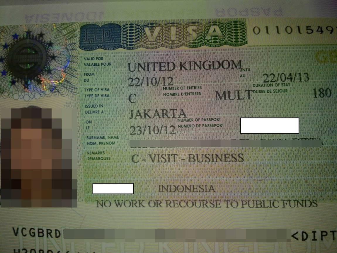Contoh Visa Inggris yang sudah disetujui