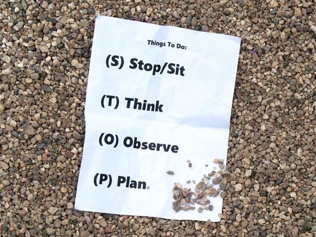 Ketika Merasa Tersesat, Berhenti atau STOP Jangan Bergerak Dalam Kondisi Pikiran Yang Kurang Jernih.