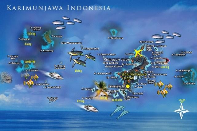 Peta Kepulauan Karimunjawa.