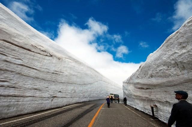 Salju ini terbentuk selama musim dingin, dan akan mencair ketika musim panas tiba.